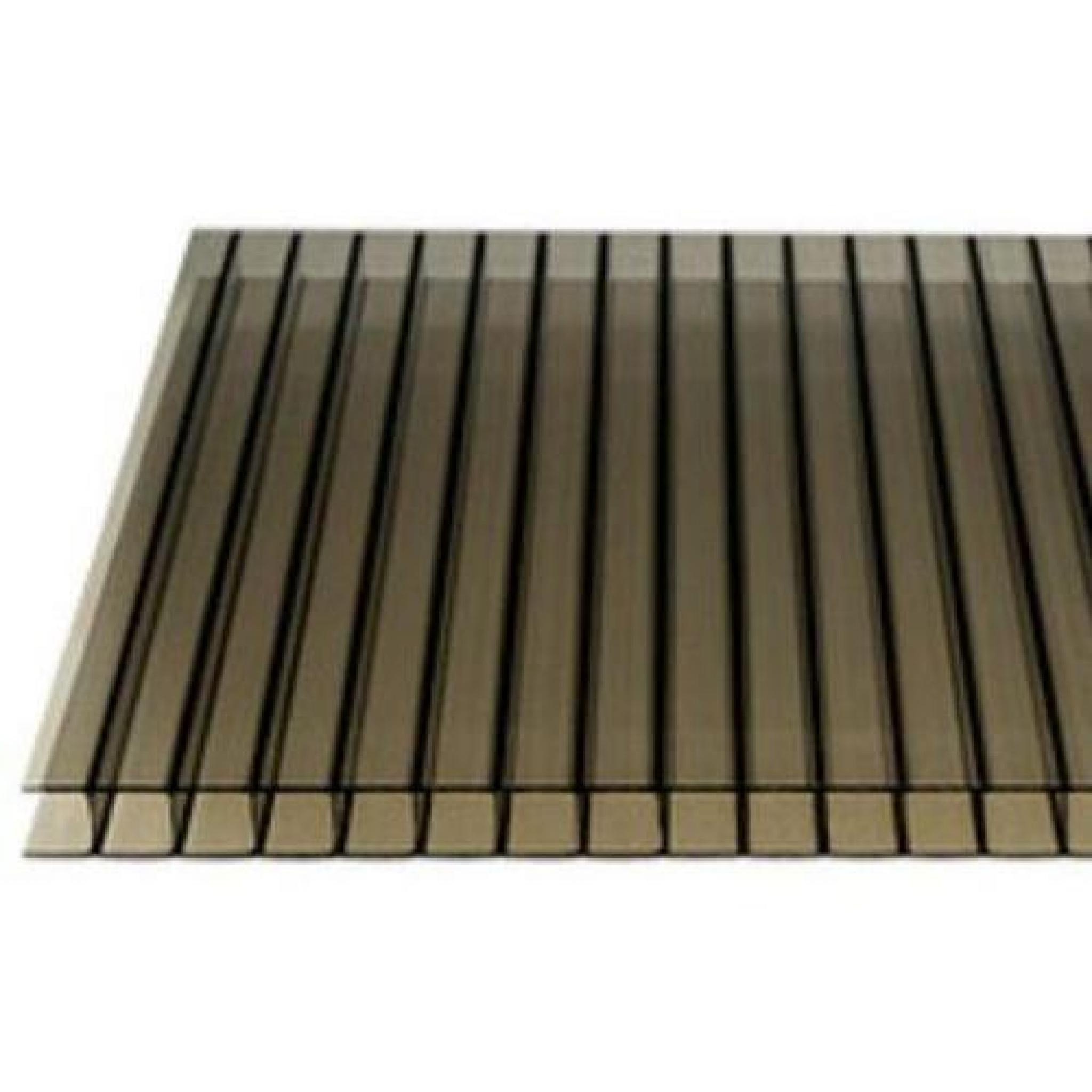 10mm Bronze Twin Wall Polycarbonate Roofing Sheet
