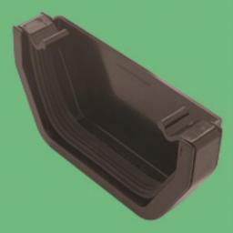 Black Square Gutter Stop End