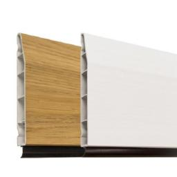 100mm White UPVC Skirting Board - 5m Chamfered