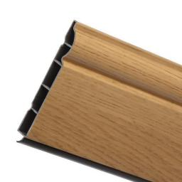 150mm English Oak UPVC Skirting Board - 5m Torus