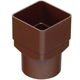 Brown Down Pipe Square to Round Connector