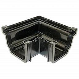 Black Ogee Gutter External 90 Degree Angle