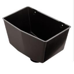 Black Down Pipe Hopper Universal Square or Round
