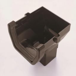 Black Square Gutter Stop End Outlet