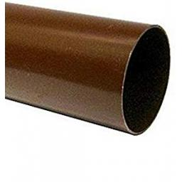 Brown Round Down Pipe 4.0mt Length 68mm