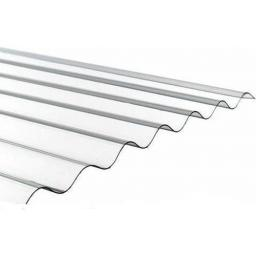 "Corrugated Roof Sheet Clear PVC 1.3mm Super 3"" Profile"