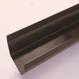Black Square Gutter 4mt Length 114mm