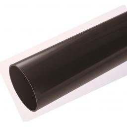 Black Round Down Pipe 5.5mt Length 68mm