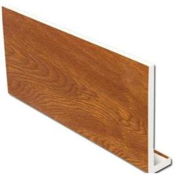 Golden Oak PVC 5m Fascia Capping Board 9mm