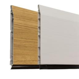 100mm English Oak UPVC Skirting Board - 5m Chamfered
