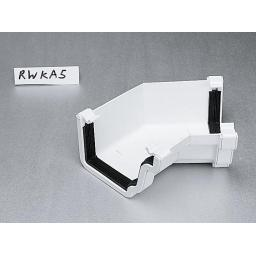White Ogee Gutter Internal 135 Degree Angle