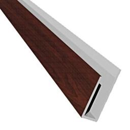 Rosewood 2 Part Soffit Board Starter Trim / J Trim 5mt