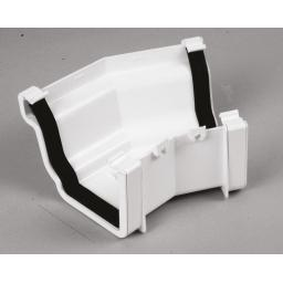 White Ogee Gutter External 135 Degree Angle