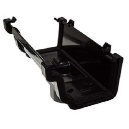 Black Ogee Gutter Running Outlet