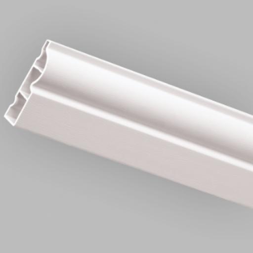 White Satin 60mm Torus Door Architrave 5.3m