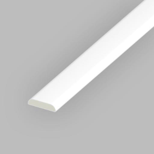 White PVC 25mm D Mould
