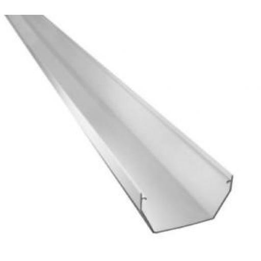 White Square Gutter 4mt Length 114mm