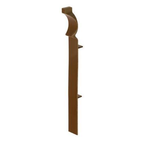 150mm English Oak UPVC Skirting Internal Corner - Torus (4 Pack)