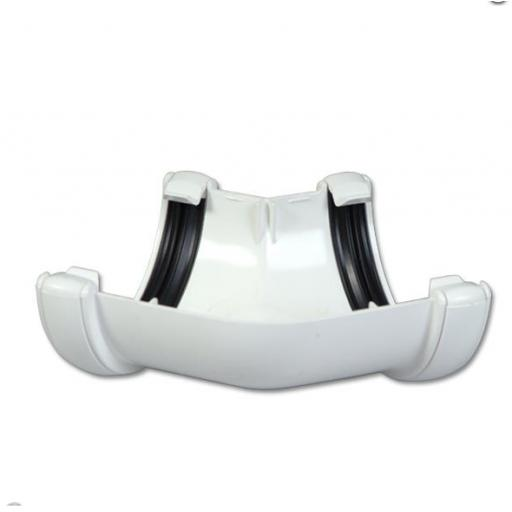 White Round Gutter 135 Degree Angle