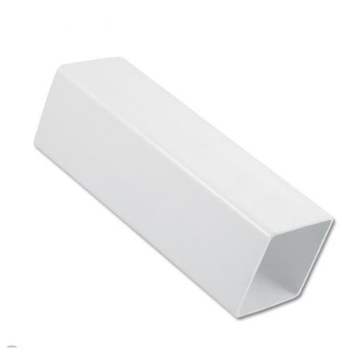 White Square Down Pipe 2.5mt Length 65mm