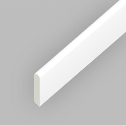 White PVC 30mm Finishing Trim