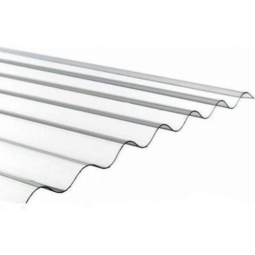 pvc corrugated roof sheet clear 1 1mm heavyweight 3 u0026quot  profile