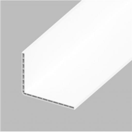 White PVC 100mm x 80mm Hollow Rigid Angle