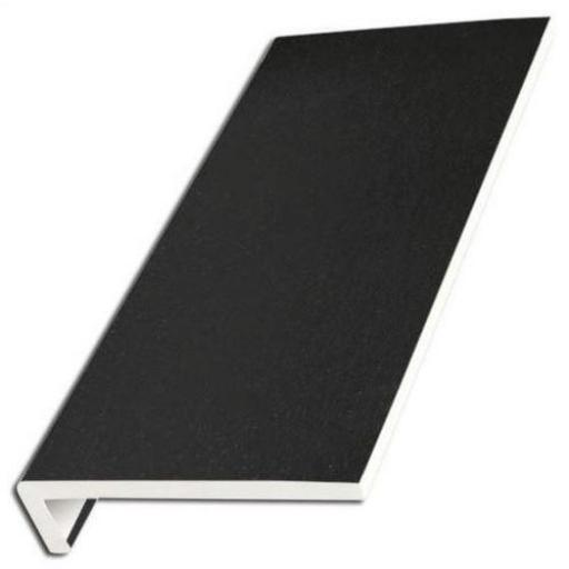 Black Ash UPVC Internal Window Sill Cover Square Edge
