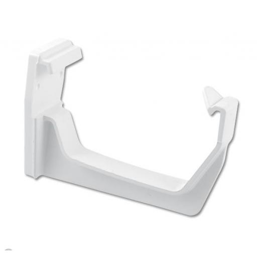 White Square Gutter Fascia Bracket