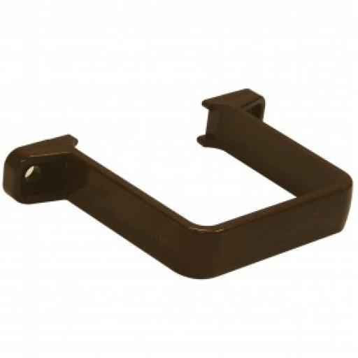 Brown Square Down Pipe Clip Flush To Wall