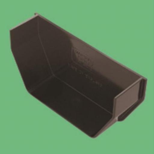 Brown Square Gutter Internal Stop End