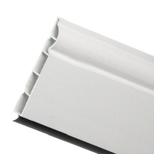 100mm White UPVC Skirting Board - 5m Torus