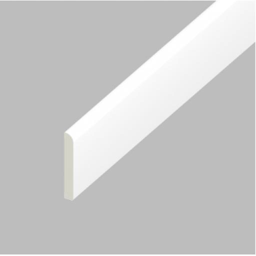 White PVC Flat Back Architrave 65mm