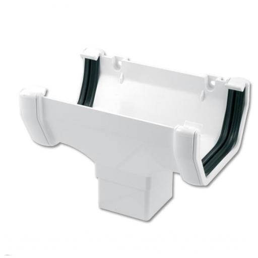 White Square Gutter Running Outlet