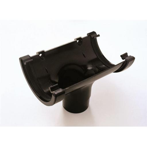 Black Round Gutter Running Outlet