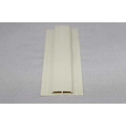 Hygienic Wall Cladding H Section Joint Strip Pastel Cream
