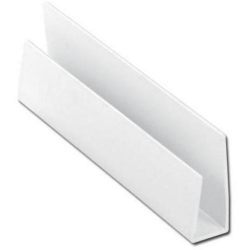 Soffit Board Starter Trim / J Trim White 5mt