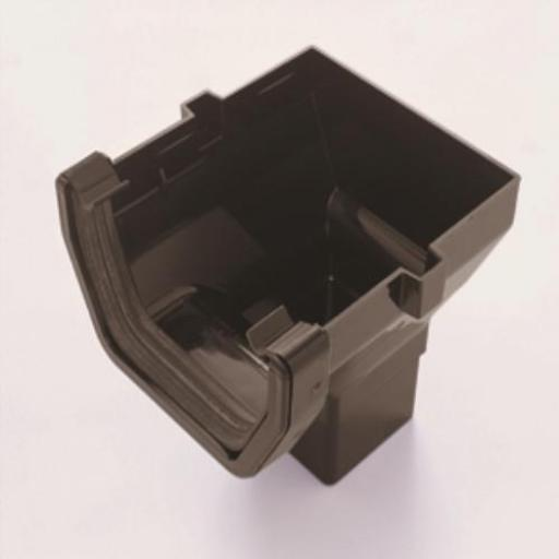Brown Square Gutter Stop End Outlet