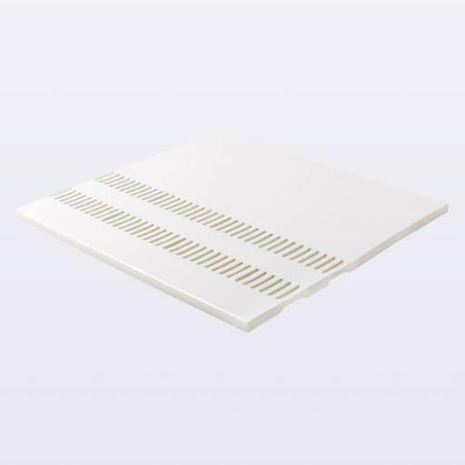 White UPVC Double Vented Soffit Board
