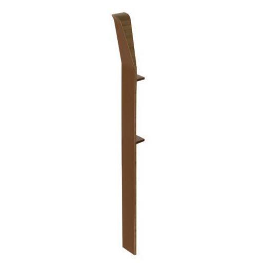 100mm English Oak UPVC Skirting Internal Corner - Chamfered (4 Pack)