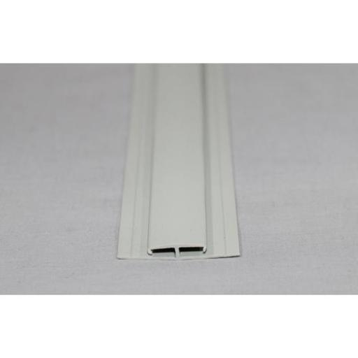 Hygienic Wall Cladding H Section Joint Strip Pastel Grey