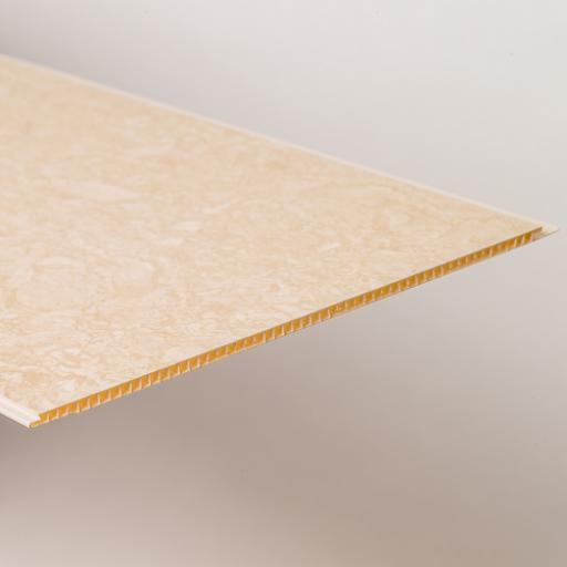 Aqua 250 Travertine Marble PVC Bathroom Wall Cladding 2700mm x 250mm x 5mm (Pack of 4)