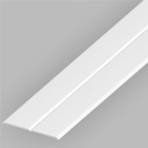 White PVC 25mm x 25mm Flexi Angle