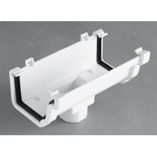 White Ogee Gutter Running Outlet