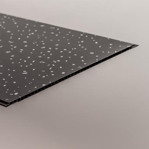 Aqua 250 Black Sparkle PVC Bathroom Wall Cladding 2700mm x 250mm x 5mm (Pack of 4)