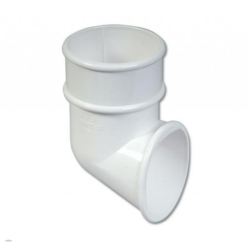 White Round Down Pipe Shoe