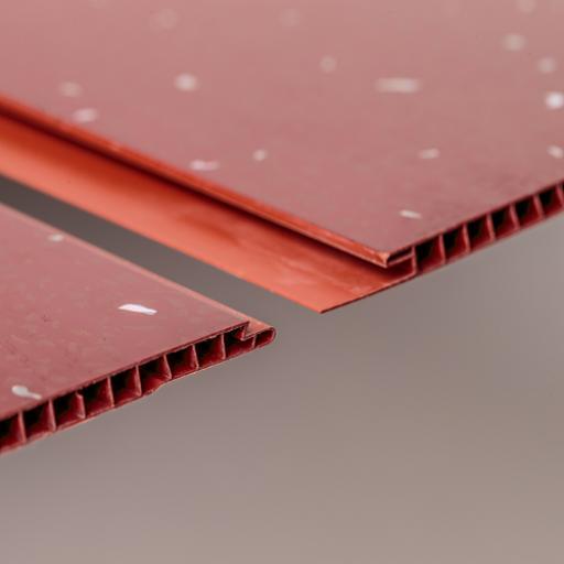 Aqua 250 Red Sparkle PVC Bathroom Wall Cladding 2700mm x 250mm x 5mm (Pack of 4)