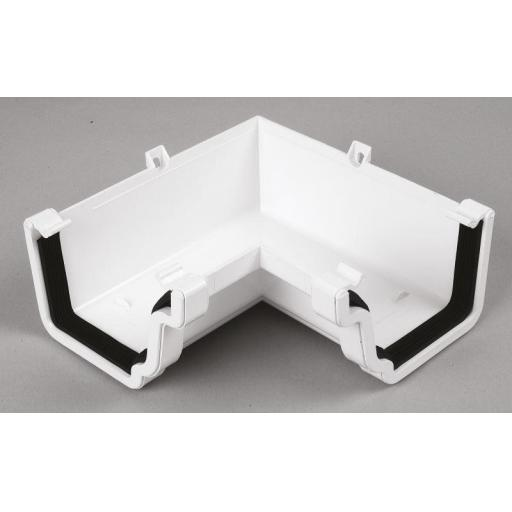 White Ogee Gutter Internal 90 Degree Angle
