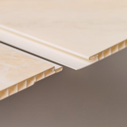 Aqua 250 Pergamon Marble PVC Bathroom Wall Cladding 2700mm x 250mm x 5mm (Pack of 4)