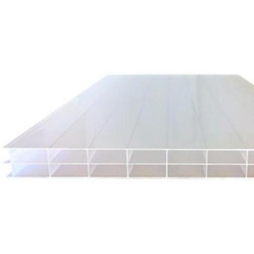 16mm Opal Triple Wall Polycarbonate Roofing Sheets